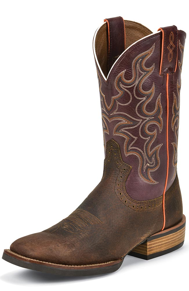 "Justin Mens 12"" Silver Collection Cowboy Boots - Copper Kettle"