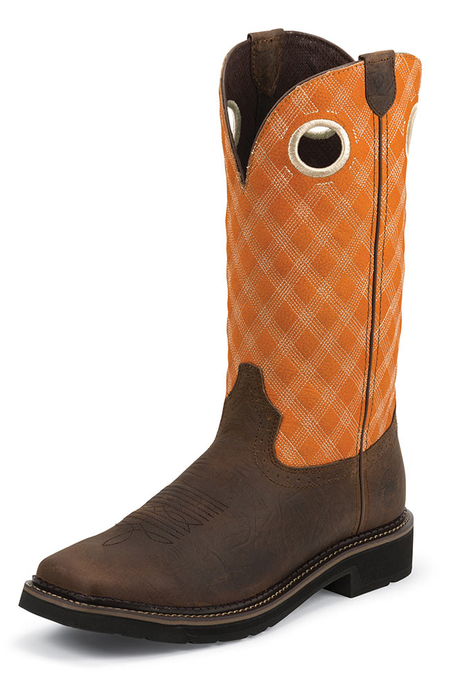 "Justin Mens 13"" Composite Toe Original Workboot - Rustic Barnwood"