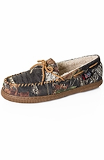 Justin Mens Mossy Oak Moccasin Slippers - Brown