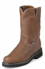 "Justin Original Workboots Men's 10"" Pull-On Round Toe Boot - Aged Bark"
