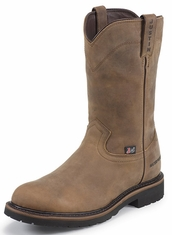 "Justin Original Workboots Men's 10"" Pull On Waterproof Work Boots"