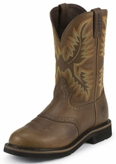 "Justin's Original Workboots Men's Stampede Steel Toe 11"" Pull On Workboots - Sunset Cowhide"