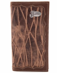 Justin Sanded Embossed Rodeo Wallet - Brown
