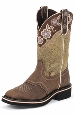 "Justin Women's 9"" Gypsy Collection Boot - Barnwood Brown"