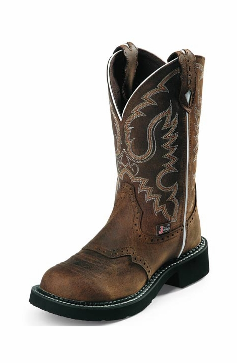 "Justin Women's 11"" Gypsy Cowgirl Boots - Aged Bark"