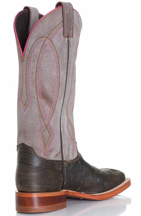 "Justin Womens 13"" Bent Rail Collection Cowboy Boot - Brown Tiger Eye"