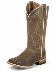 Justin Youth Bent Rail Kids Square Toe Boots - Sierra Tan