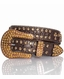 Kamberley Crystal Womens Cross Belt - Brown (Closeout)
