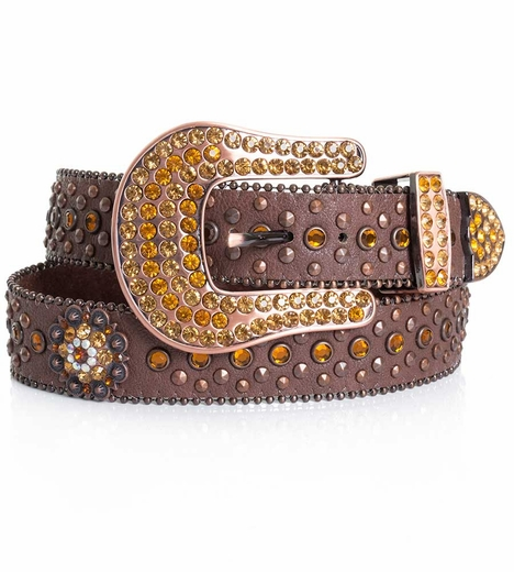 Kamberley  Womens Berry Concho Belt - Brown