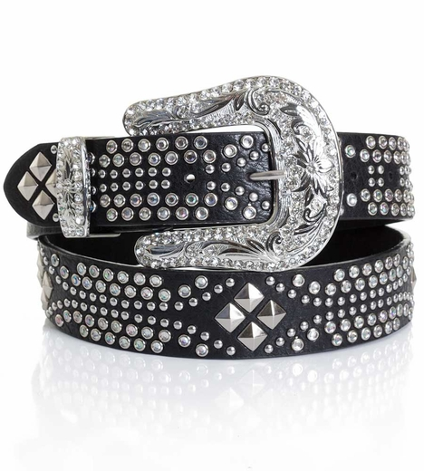Kamberley Womens Southwest Studded Belt - Black