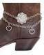Kamberley Womens Heart & Berry Concho Boot Chain