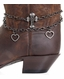 Kamberley Womens Heart & Cross Boot Chain - Pewter