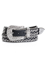 Kamberley Womens Rhinestone Belt - Black