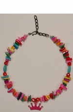 Kid's Lil Chick Confetti Necklace with a crown pendant (Closeout)