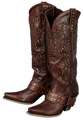 Lane Boots Women's 'Stud Rocker' Cowboy Boots - Brown