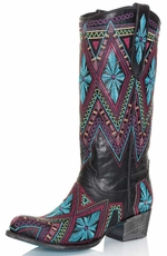 "Lane Womens ""Sunshine"" Round Toe Tall Cowboy Boots"