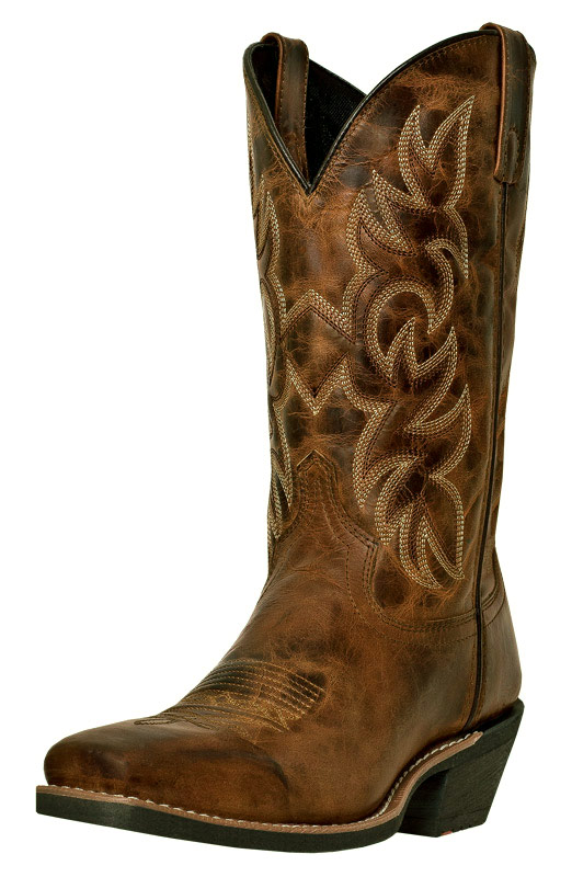 "Laredo Men's Breakout 12"" Square Toe Cowboy Boots - Rust"