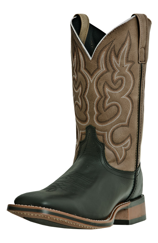 "Laredo Men's Lodi 11"" Square Toe Cowboy Boots - Black"