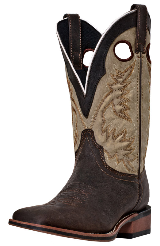 "Laredo Mens Collared 11"" Square Toe Cowboy Boots - Brown"