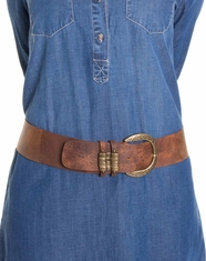 Leatherock Women's Slider Loop Belt - Distressed Brown