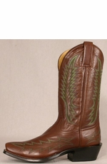 Legado Men's Blunt Toe Milled Roma Boots - Brown/Green