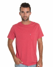 Levi's Men's Carmen Pocket Tee Shirt - Vintage Red