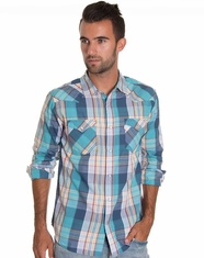 Levi's Men's Long Sleeve Gantt Snap Shirt - Teal