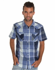 Levi's Men's Short Sleeve Hairston Woven Shirt - Dress Blue