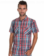 Levi's Men's Short Sleeve Lamp Woven Shirt -Apple
