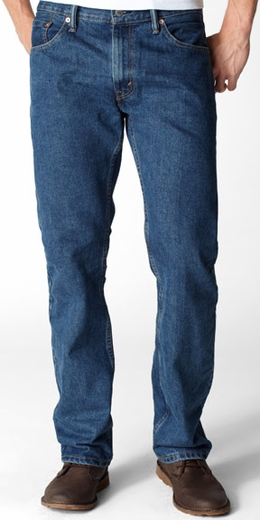 Levi's ® Men's 505 ™ Regular Fit Jeans - Dark Stonewash