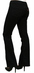 Levi's ® Junior's 518 ™ Superlow Boot Cut Jeans - Black Pressed