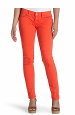 Levi's ® Junior's 524 ™ Skinny Jeans with Triple Needle Stitch - Bright Orange (Discontinued)