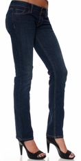 Levi's ® Junior's 524 ™ Straight Jeans - Worn Dark (Closeout)