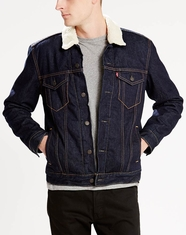 Levi's ® Men's Sherpa Trucker Jacket - Juniper Rinse