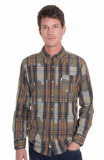 Levi's ® Mens Long Sleeve Ponda Button Down Western Shirt - Olive (Closeout)