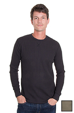 Levi's ® Mens Long Sleeve Thermal Western Shirt - Black or Green (Closeout)