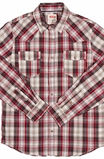 Levi's ® Mens Long Sleeve Wace Snap Western Shirt - Red (Closeout)