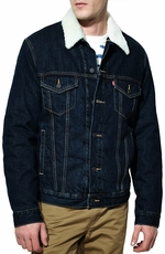 Levi's® Mens Relaxed Sherpa Trucker Jacket - Foley