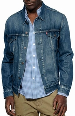 Levi's® Mens Relaxed Trucker Jacket - Dark Summit (Closeout)