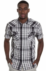 Levi's ® Mens Short Sleeve Bane Snap Shirt - Black