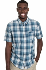 Levi's ® Mens Short Sleeve Catch Button Western Shirt - Dress Blue