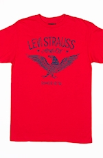 Levi's ® Mens Short Sleeve Eagle Tee Shirt - Red