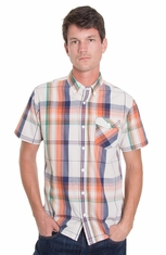 Levi's ® Mens Short Sleeve Hulman Button Down Western Shirt - Gardenia