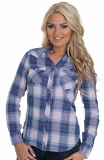 Levi's® Women's Long Sleeve Plaid Anne Shirt - Blue