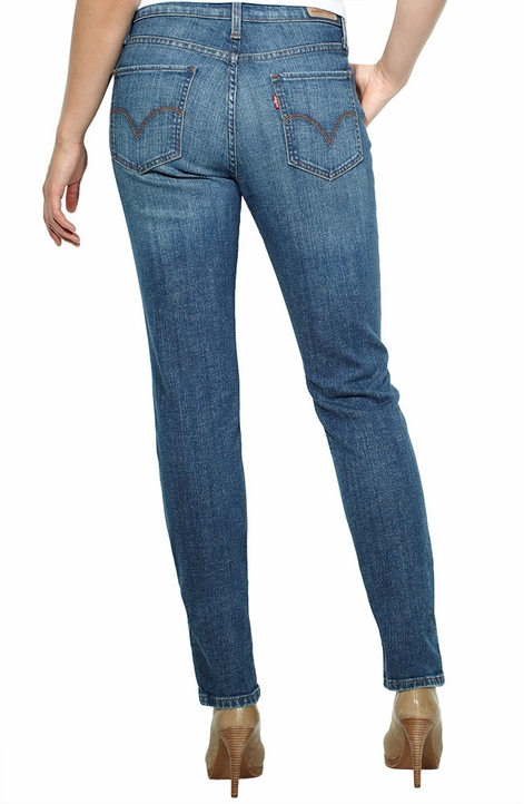 Levi's ® Women's Mid Rise Skinny Jeans - Studio Blue with Sea Star (Closeout)