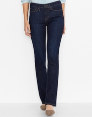 Levi's Women's 525 Perfect Waist Straight Leg Jean - Blue Springs