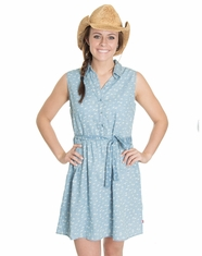 Levi's Women's Sleeveless Print Aviary Dress - Denim