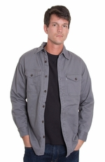 Levi's ® Mens Long Sleeve Shirt Jacket - Grey (Closeout)