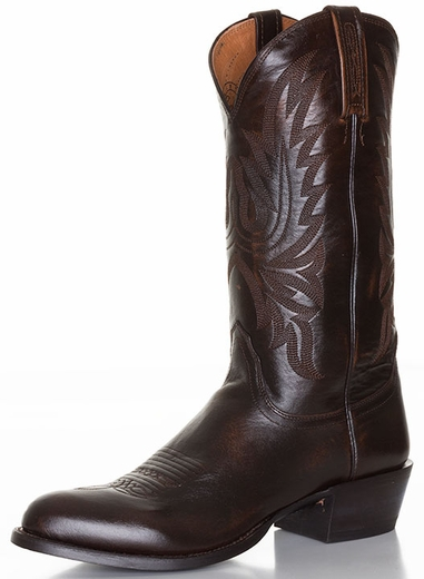 Lucchese Men's Lonestar Round Toe Cowboy Boots - Antique