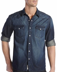 Lucky Brand Men's Long Sleeve Big Springs Snap Denim Shirt - Vintage Blue